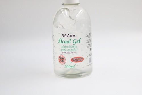 Álcool Gel 70 Antiséptico Com Aloe Vera Tuti Amore 500g