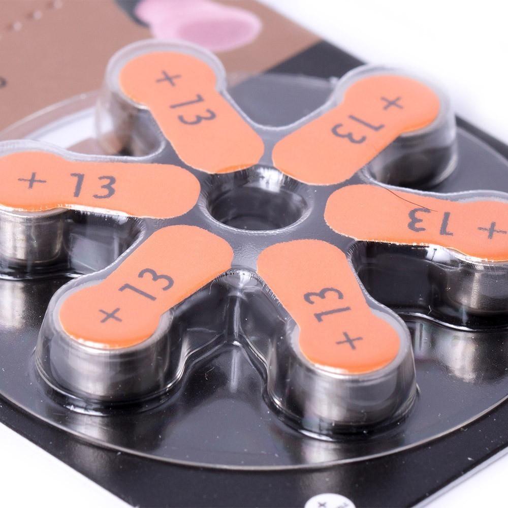 18 Baterias Pilhas Para Aparelho Auditivo Duracell 13