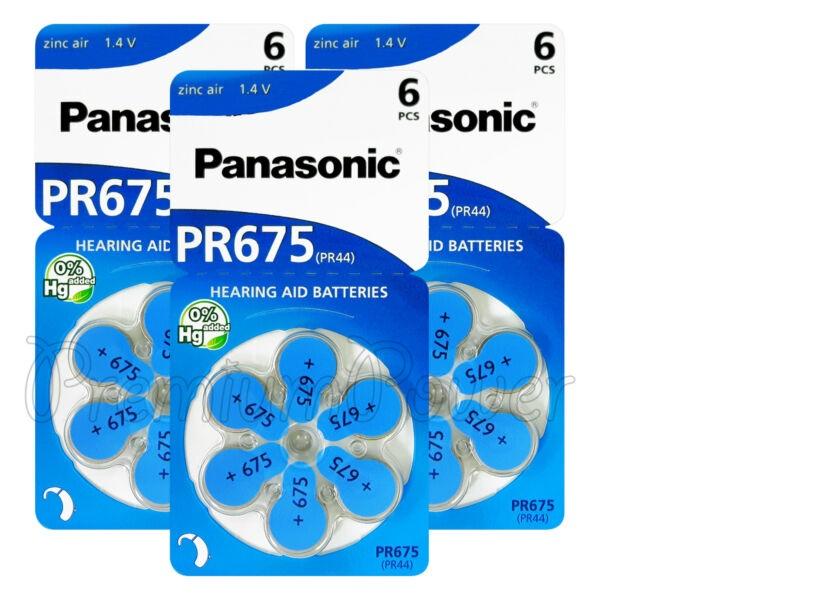 18 Pr-675 Panasonic Pilhas Aparelho Auditivo