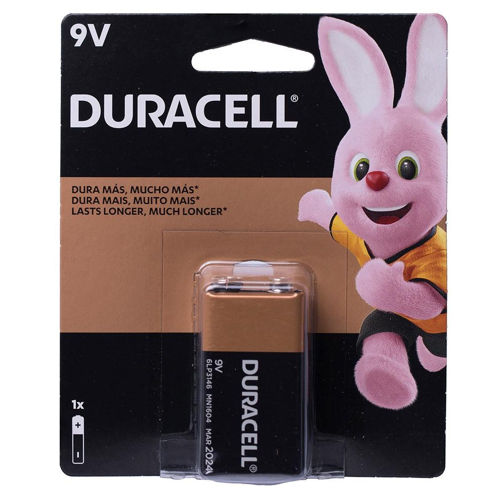 1 Bateria Duracell Pilha Alcalina 9 Volts Mn1604b1