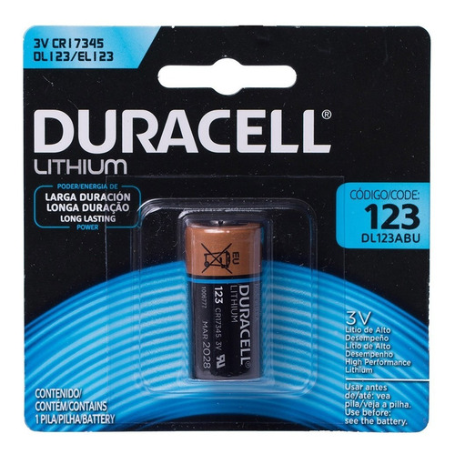 20 Bateria Dl123 Cr123a Duracell 3v Pilha Cr17345 Original