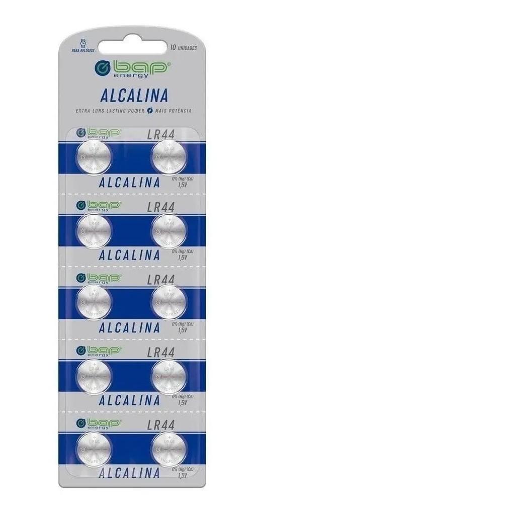 20 Baterias Alcalina 1,5v Bap Lr44 Para Relógios Calculadoras Brinquedos Longa Duração