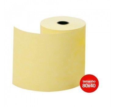 Bobina Termica 80x40 Amarela 80mm para Impressoras: Bematech, Epson, Daruma, Elgin, Sweda C/30 Unidades