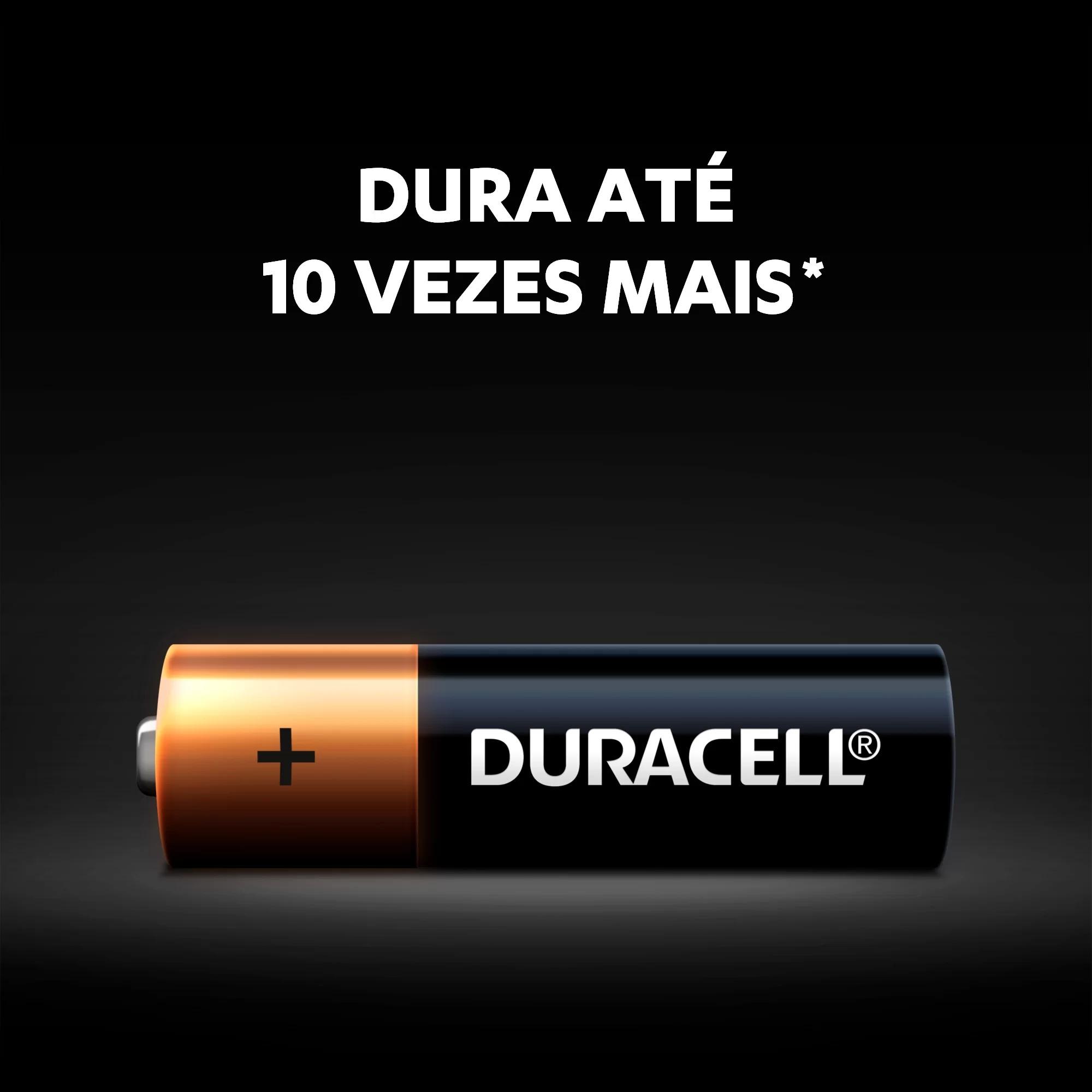 24 Pilhas Palito AAA Duracell Alcalina 6 Cartelas C/4 Unidades Atacado