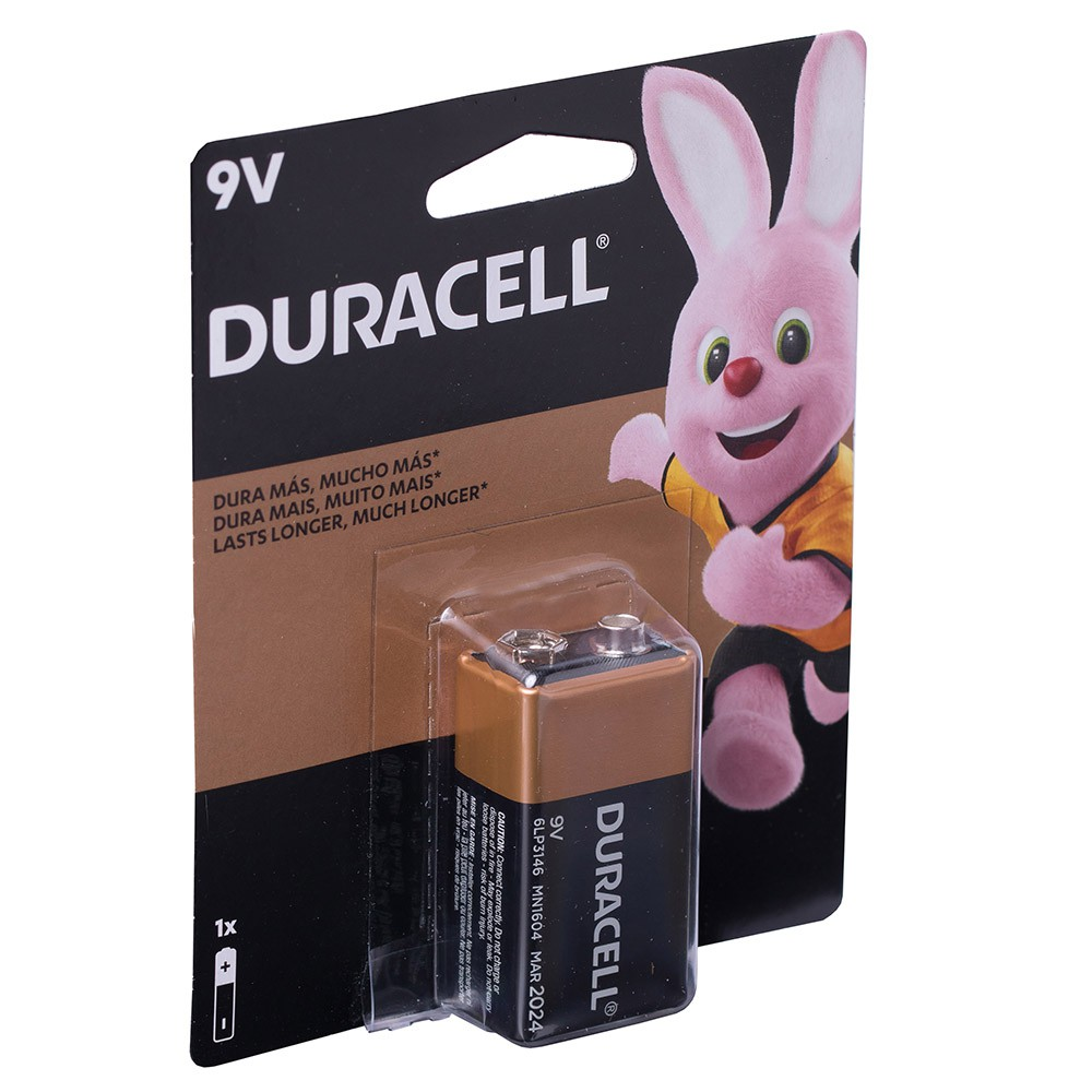 2 Bateria Duracell Pilha Alcalina 9 Volts Mn1604b1