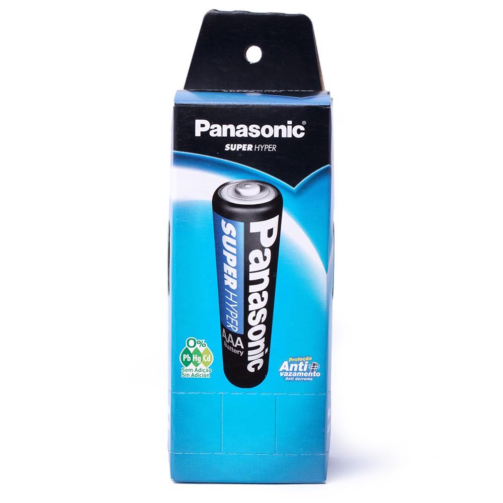 2 Caixas Pilha Palito Aaa 3a R03p Panasonic C/ 40 Un