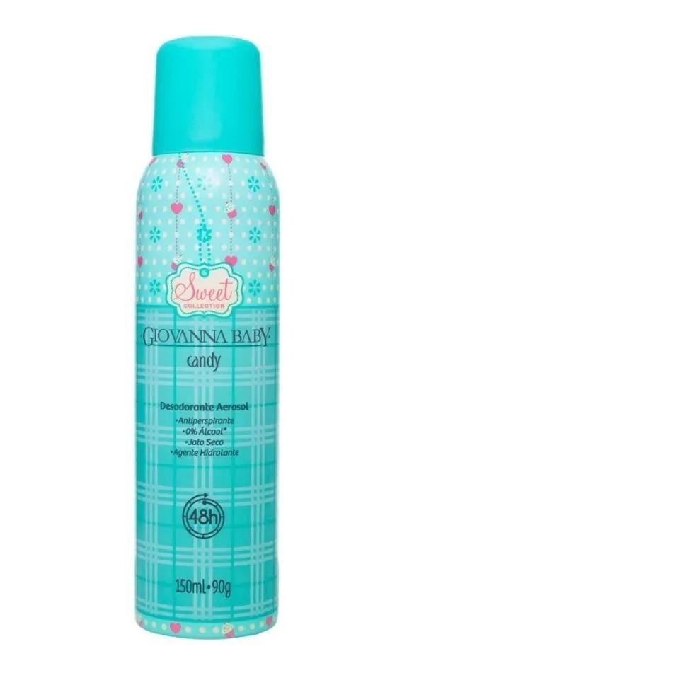 2 Desodorante Aerosol Giovanna Baby Candy 150 ML