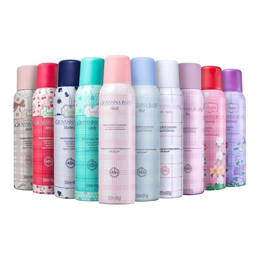 2 Desodorante Aerosol Giovanna Baby Lilac 150 ML