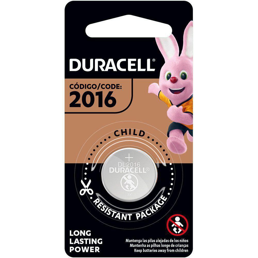 2 Pilhas Cr 2016 Duracell 3v Bateria De Lítio Moeda Dl 2016