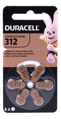 30 Pilhas Baterias Da 312 Pr41 Aparelho Auditivo - Duracel