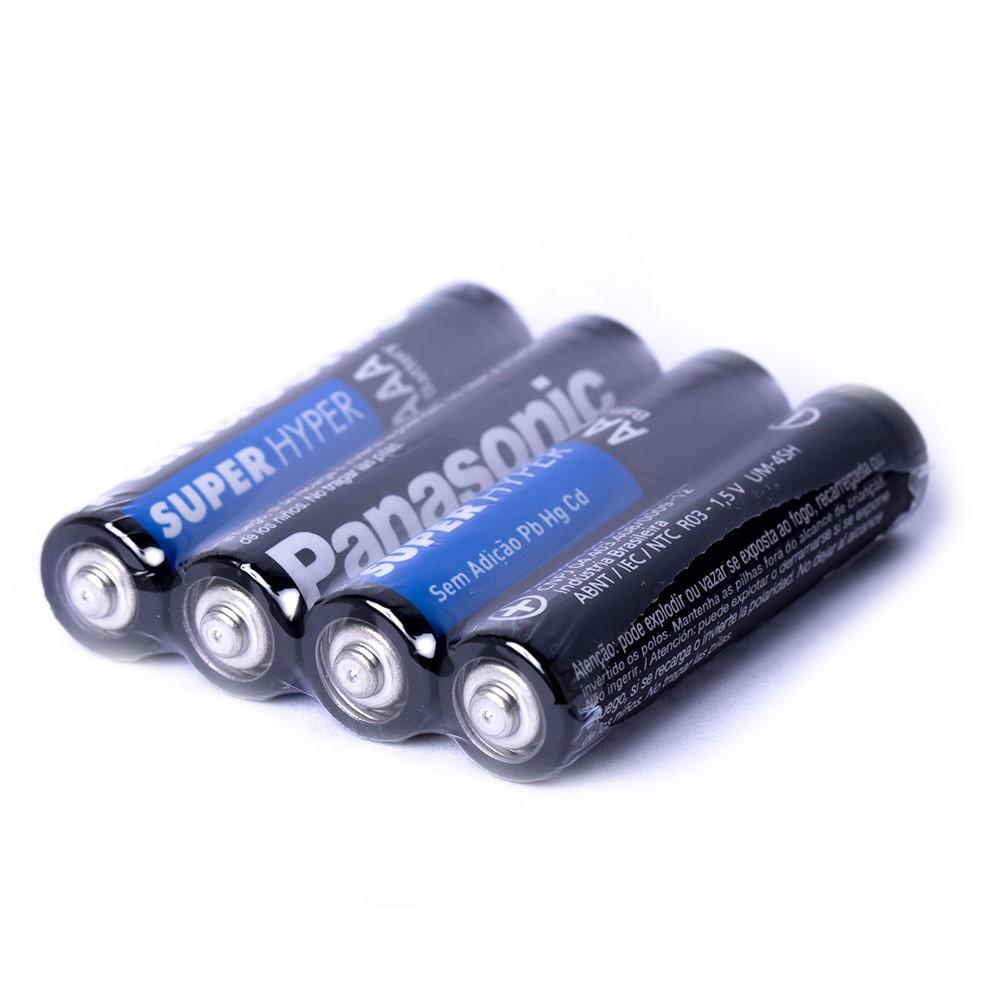 32 Pilhas Palito Aaa Panasonic Comum 4 Cartelas C/ 8 Unid