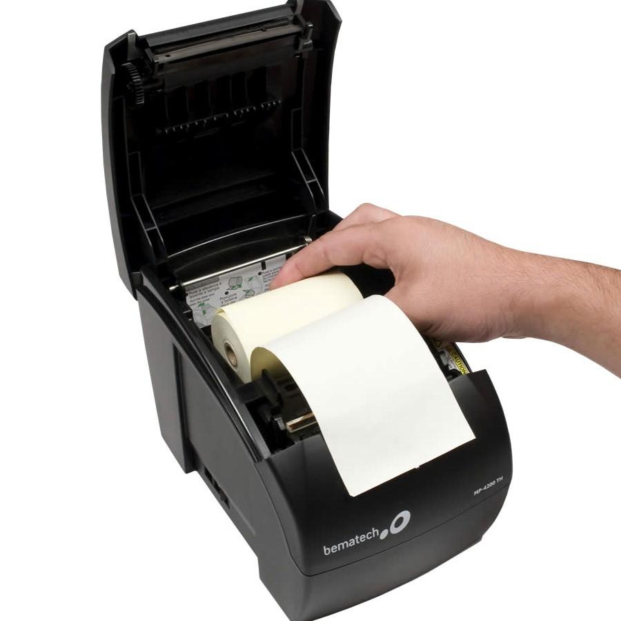 40 Bobina Térmica Amarela 57x15 Para Maquina Cartão De Credito
