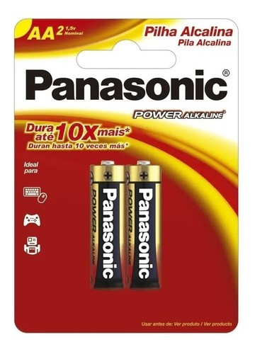 40 Pilhas Aa Alcalina Panasonic A2 Pequena