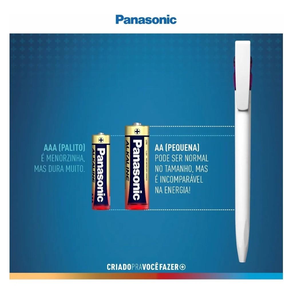 40 Pilhas Aaa Panasonic Alcalina Palito Cartelão