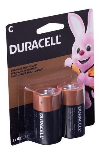 48 Pilhas Média Duracell C Alcalina 24 Cartelas Com 2 Unidades