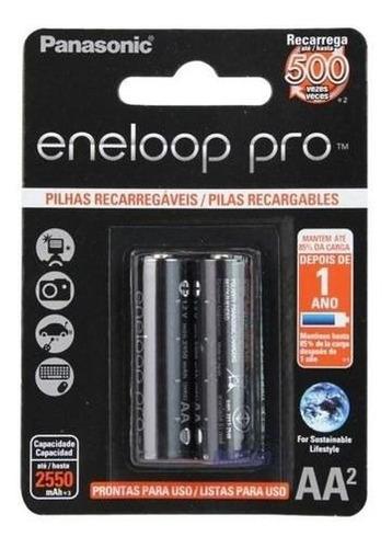 4 Pilha Aa Recarregável Eneloop Pro Panasonic Carregador 550