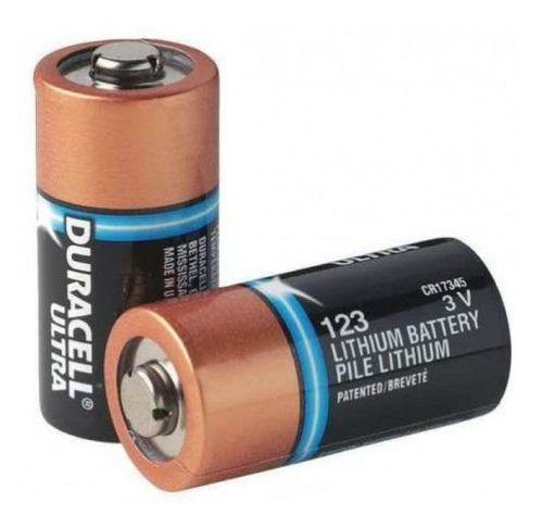 4 Pilha Cr123a Bateria Duracell 3v Dl123 Dea Zoll Aed Plus