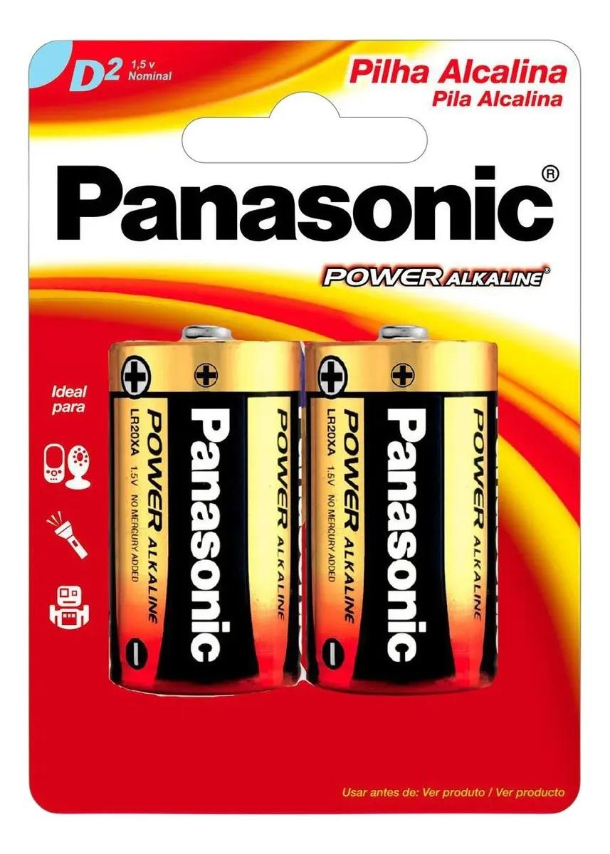 4 Pilhas Grande D Alcalina LR15 Panasonic