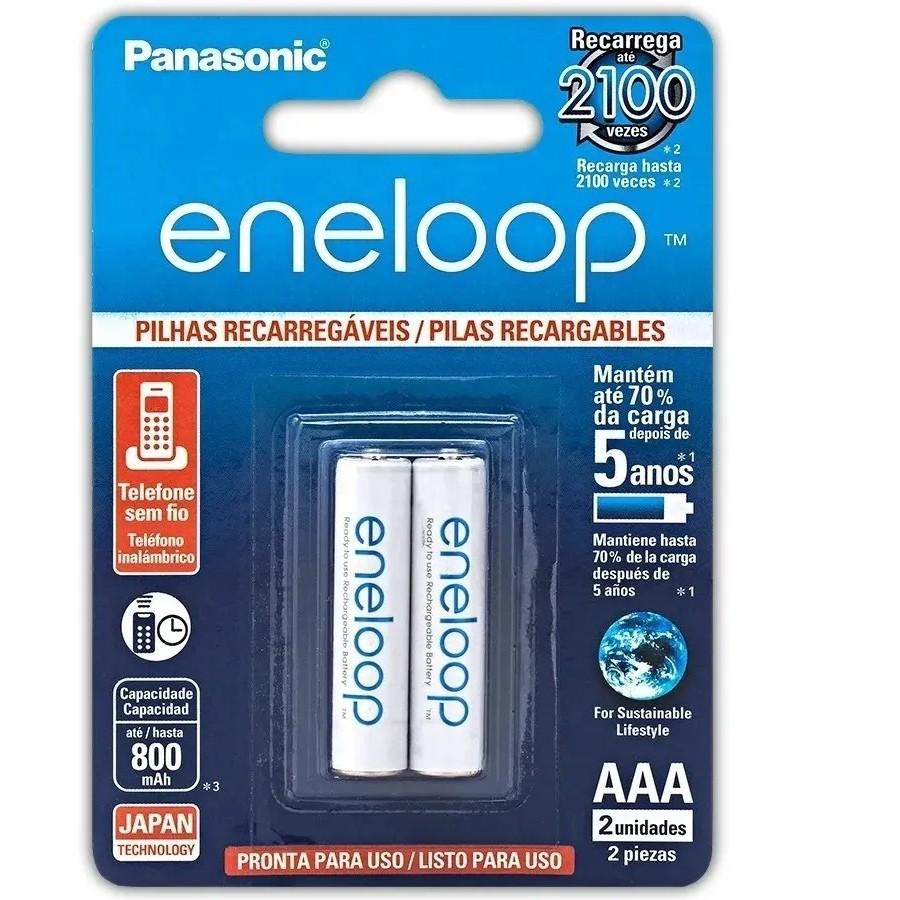 4 Pilhas Eneloop Recarregaveis Aaa 800mah Panasonic