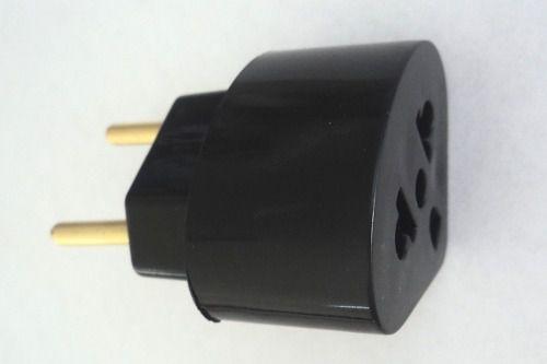 Plug Adaptador De Tomada Preto 15 A Universal