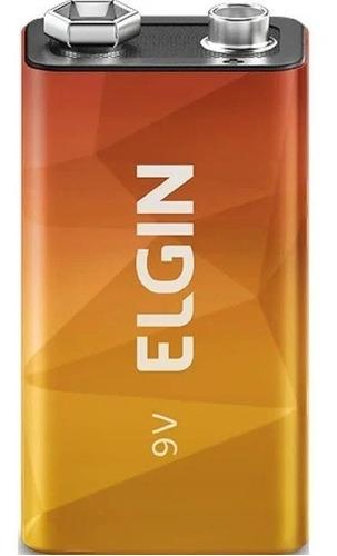 5 Baterias 9V Zinco Carbono Elgin Alta Durabilidade Original