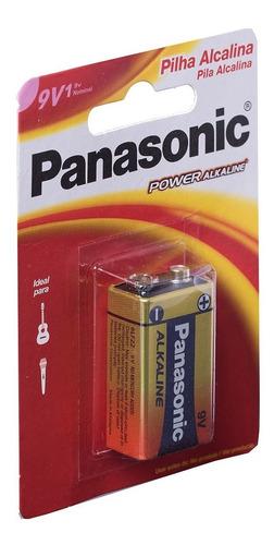 5 Pilha Bateria 9V Alcalina Panasonic Original Power Cartela