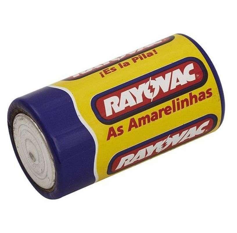 60 Pilha Media C Rayovac Comum 5 Bandejas C/12 Un As Amarelinhas