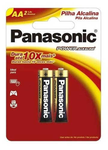 60 Pilhas Aa Alcalina Panasonic A2 Pequena
