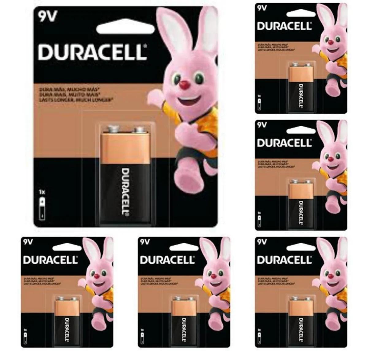 6 Bateria Duracell Pilha Alcalina 9V Mn1604b1