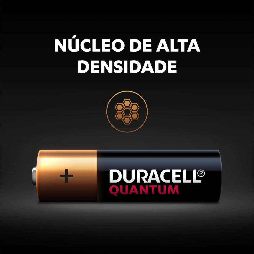 6 Pilhas AAA Duracell Quantum Alcalina Palito Longa Duração Original