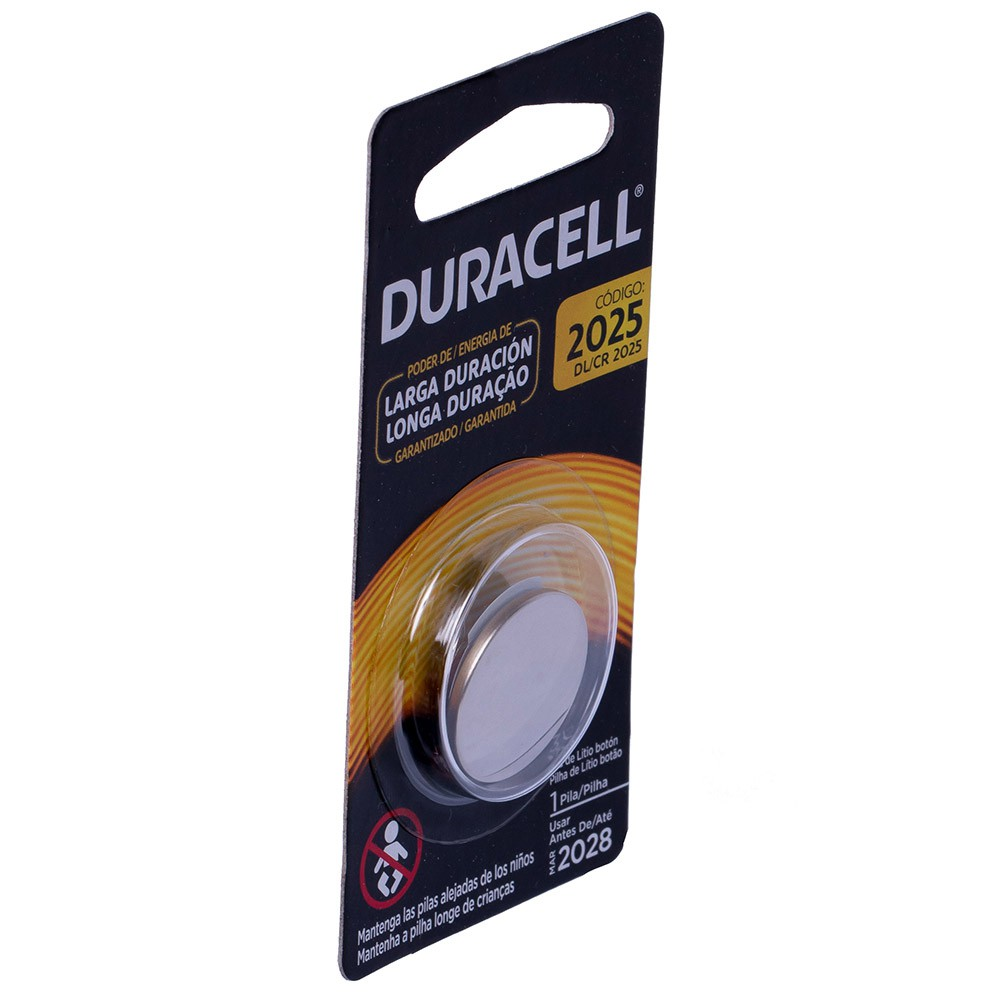 6 Pilhas Cr 2025 Duracell 3v Lithium Bateria Moeda Cartela