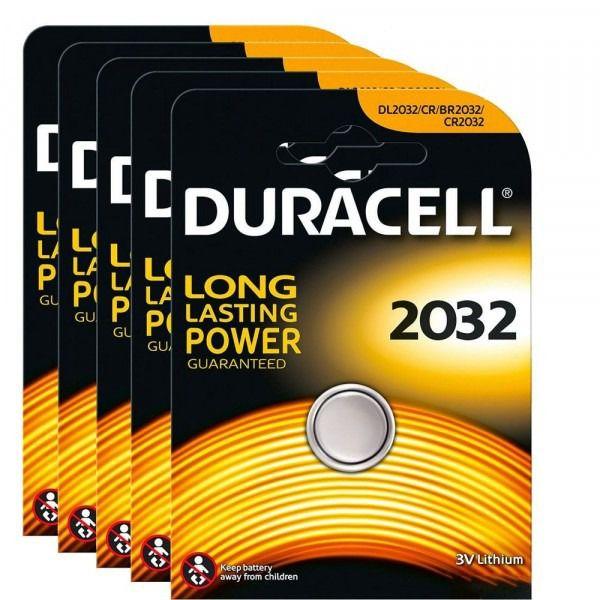 6 Pilhas Duracell Cr2032 3v Lítio Bateria Moeda