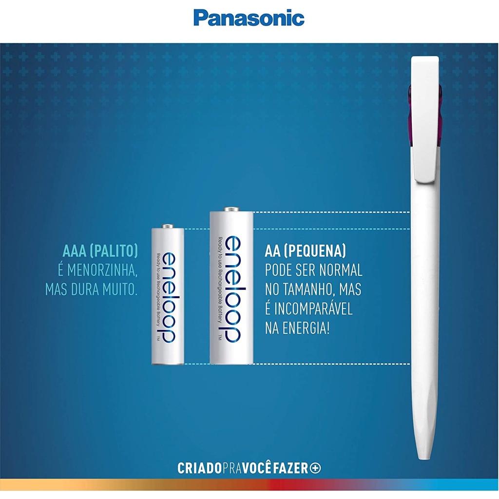 6 Pilhas Eneloop Recarregaveis Aa 2000mah Panasonic