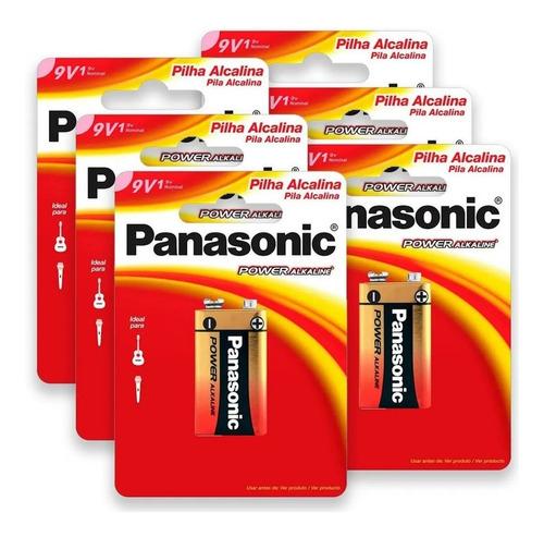 7 Pilha 9v Panasonic Bateria Alcalina Original Power