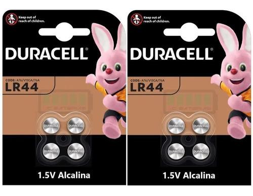 8 Bateria Pilha Moeda Lr44 / A76 Duracell