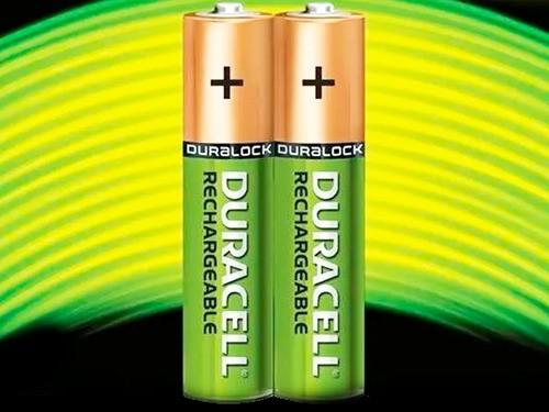 8 Pilhas Aaa Recarregáveis 750 Mah Duracell Kit