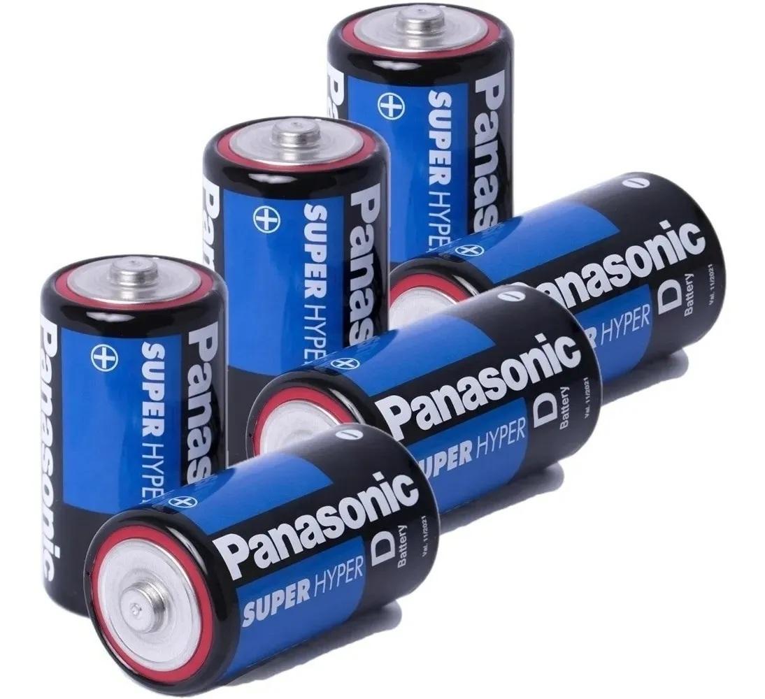 8 Pilhas Grande D Panasonic Comum R20 4 Cartelas C/2 Rádio