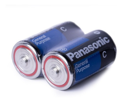 8 Pilhas Média C Panasonic 1,5v Rádio Brinquedos Kit