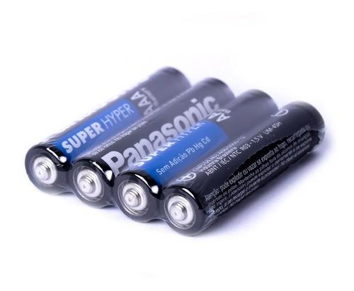 96 Pilhas Palito Aaa Panasonic Comum 24 Cartelas C/ 4 Unid