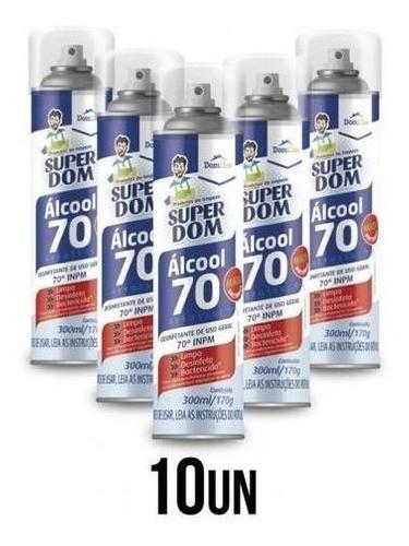 10 Álcool Aerossol 70 Super Dom 300ml Dom Line