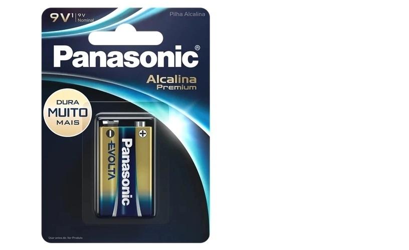 Bateria 9V Alcalina Premium Evolta Panasonic Longa Duração