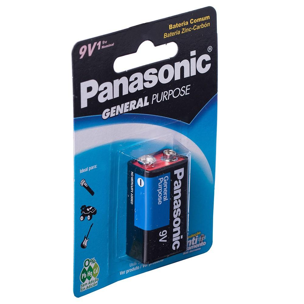 Bateria 9v Panasonic Super Hyper Cartela 1 Unidade