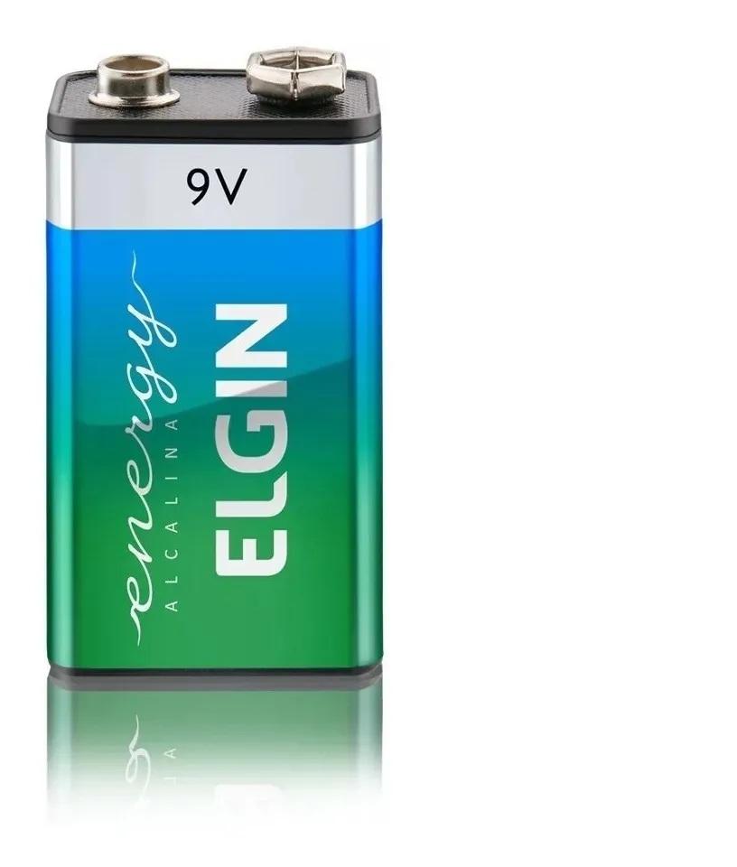 Bateria Alcalina 9v Elgin Pilha