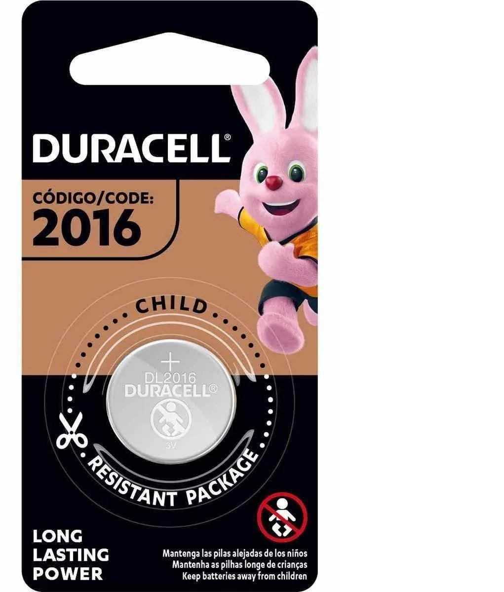 Bateria Cr 2016 Duracell 3v Moeda Botão Dl 2016