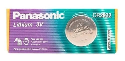 Bateria Cr2032 de Lithium Panasonic 3v Moeda 10 Un