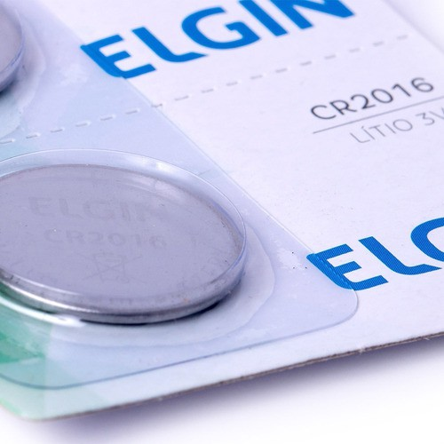 Bateria De Lítio Elgin Cr2016 3v Moeda 5 Un