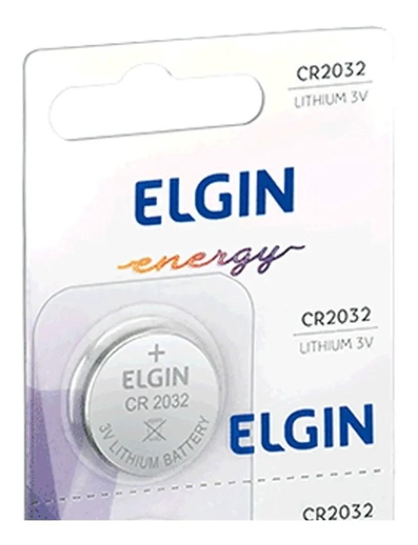 Bateria De Lítio Elgin Cr2032 3v Moeda 5 Un