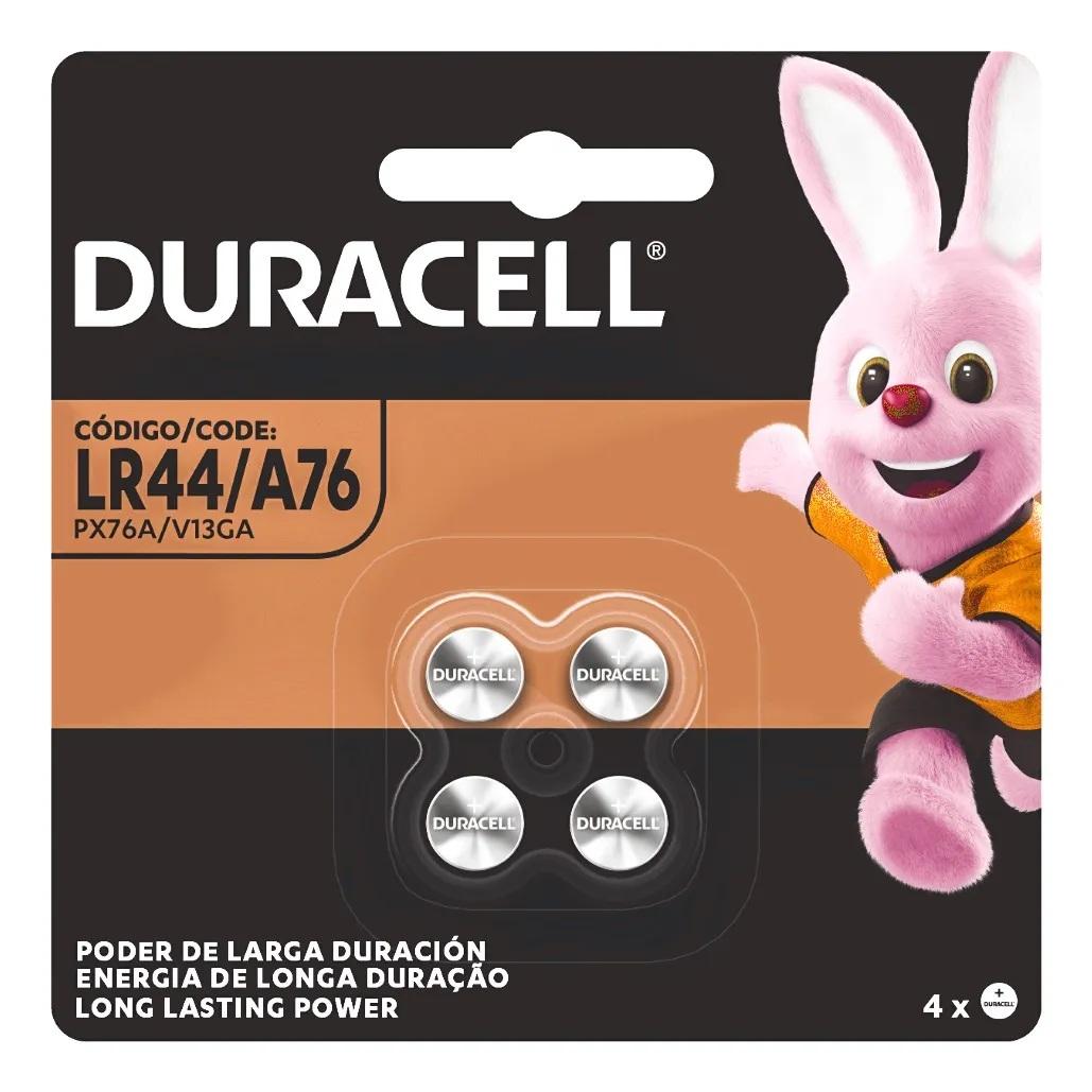 Bateria LR44 Duracell 1.5V Botão 6 Cartelas C/4 Unidades