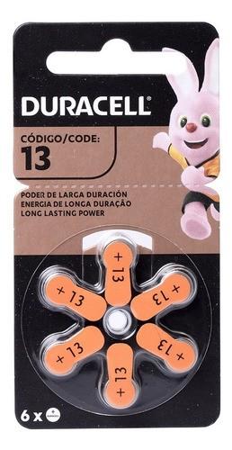 Bateria Duracell 13  Pilhas Para Aparelho Auditivo C/ 36 Un