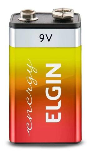 Bateria Zinco 9v Elgin Pilha Blister 1 Un Original